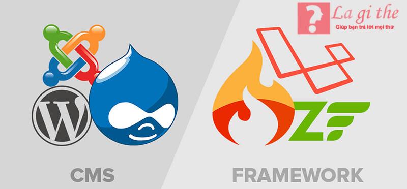 Framework và CMS là 2 khái niệm hoàn toàn khác nhau