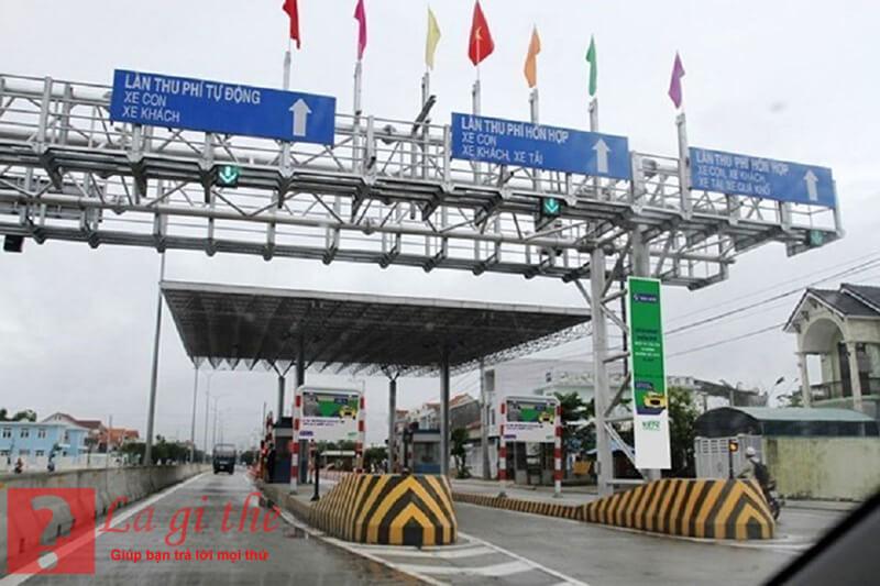 Trạm được lập để thu phí phương tiện sử dụng đường bộ