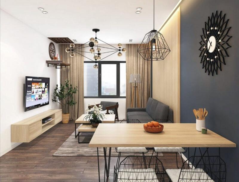 Phong cách tối giản với đồ đạc nhỏ gọn, màu sắc trung tính