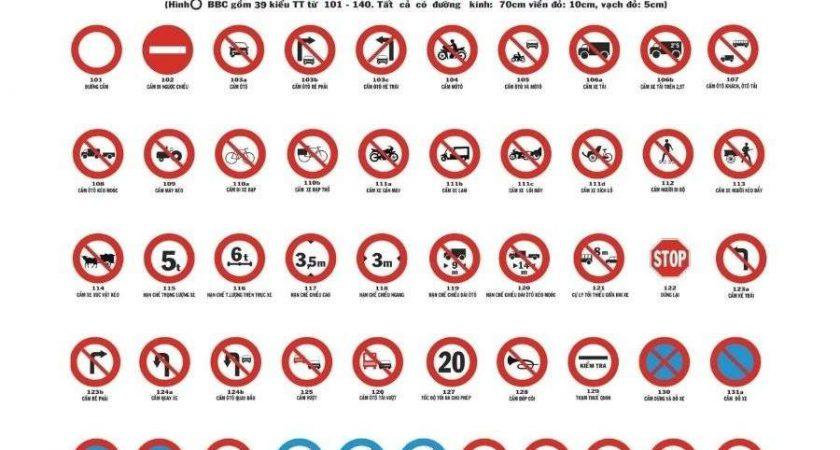 Các loại biển báo giao thông đường bộ mới bạn CẦN NẮM RÕ