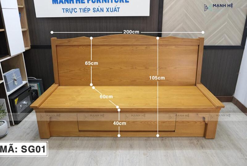 Mẫu sofa giường đa năng của Sofa Mạnh Hệ